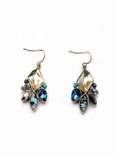 Elegant Crystal Alloy Drop hook earring