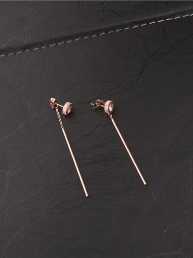 Simple Style Zircons Line Earrings