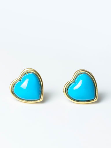 Turquoise Anti Allergy Silver stud Earring