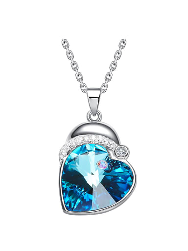 S925 Silver Heart-shaped Crystal Necklace