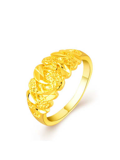 Women Fashion Geometric Shaped 24K Gold Plated Ring