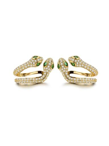 New double-headed snake Earbone clip on individual animal Earrings
