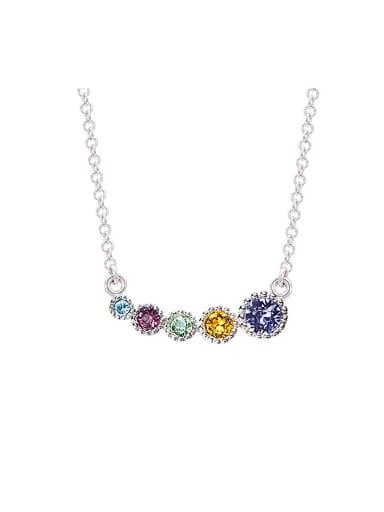 Multi-color Swarovski Zircons Necklace