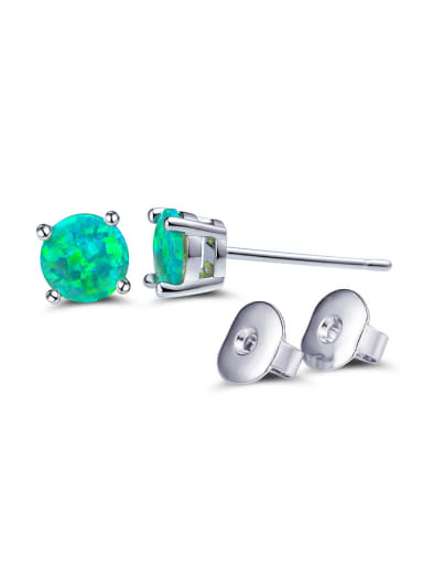 2018 Green Round stud Earring
