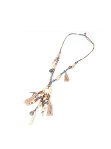 Exaggerate Tassel National Fashion Women Necklace
