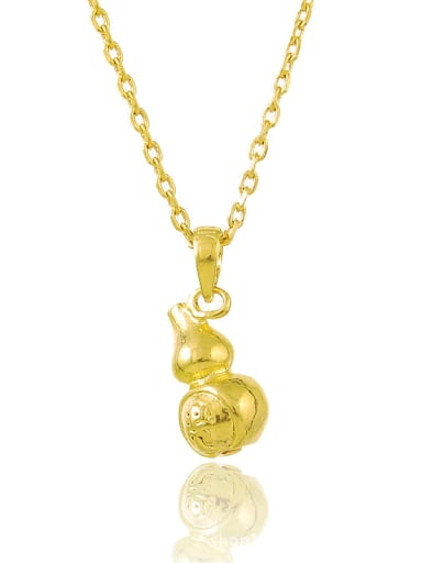 Creative 24K Gold Plated Gourd Shaped Necklace