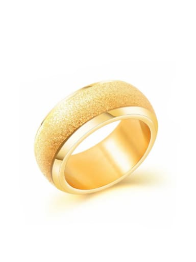 Stainless Steel With Gold Plated Fashion Geometric Rings