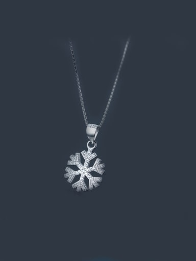 S925 Silver Snowflake zircon Necklace