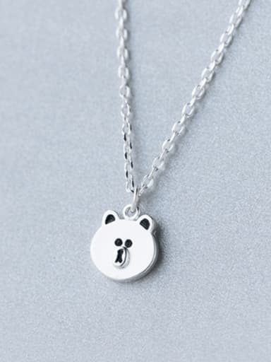 S925 silver sweet baby bear necklace