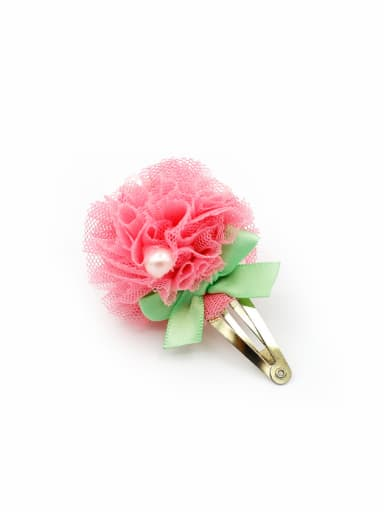 Yarn Flower Hair clip