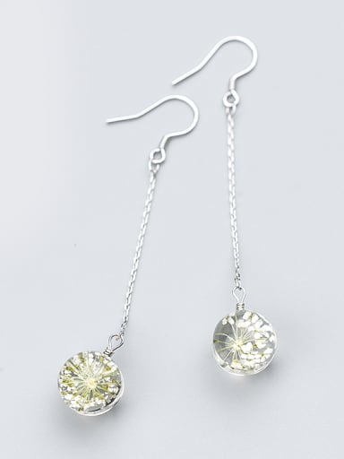 High Quality Yellow Flower Shaped Crystal Drop Earrings