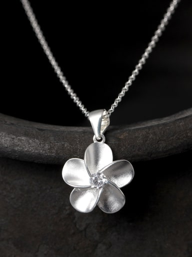 S925 Silver Flower Fashion Necklace