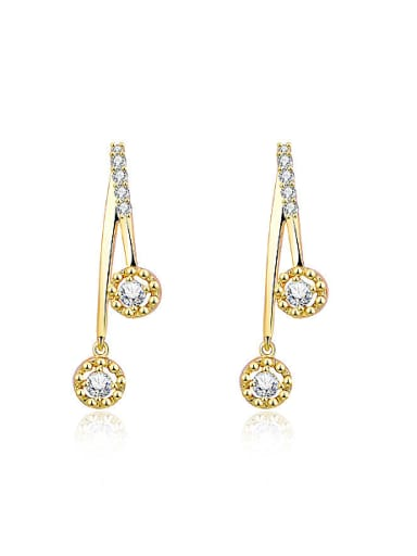 Creative Round Shaped Rhinestones Stud Earrings