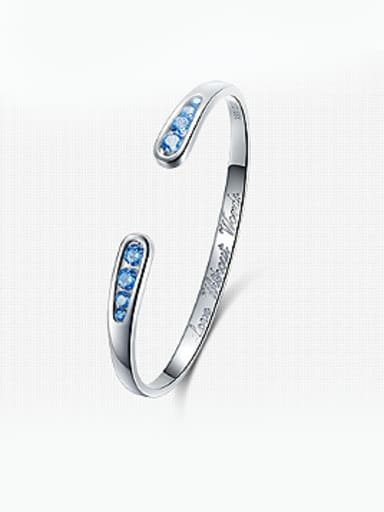 999 Silver Swarovski Crystal Bangle