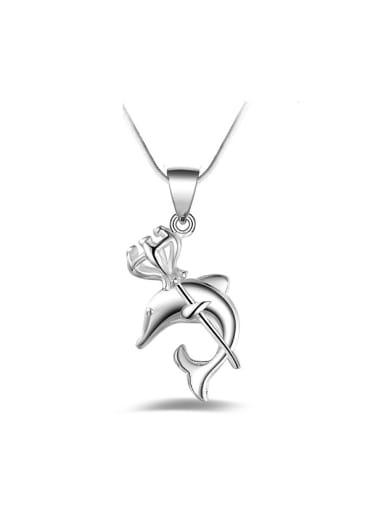Fashion Little Dolphin Pendant Copper Necklace