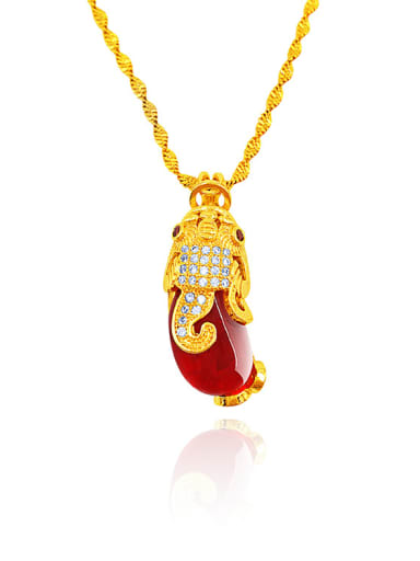 Women Exquisite Red Stone Necklace