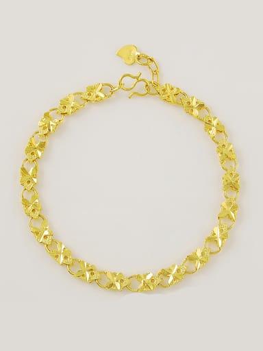 Women 24K Gold Plated Flower Shaped Copper Bracelet