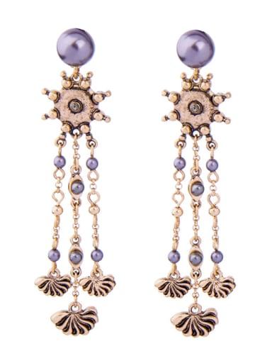 Tassel Personality Elegant Women Drop Earrings