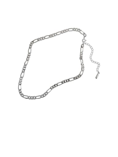 925 Sterling Silver With Smooth Simplistic Chain Necklaces