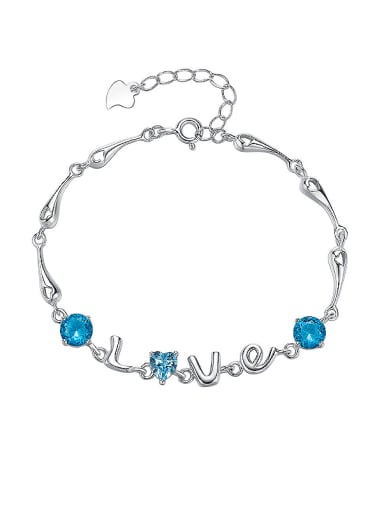 S925 Silver Letter-shaped Bracelet