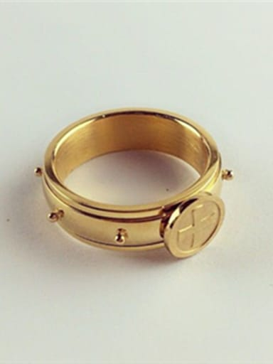 Small Beads Rotating Titanium Ring