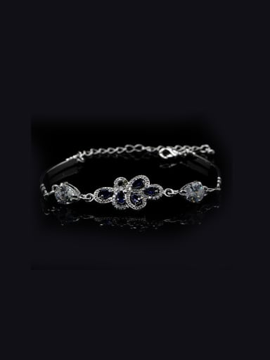 White Gold Plated  Fashion Bracelet