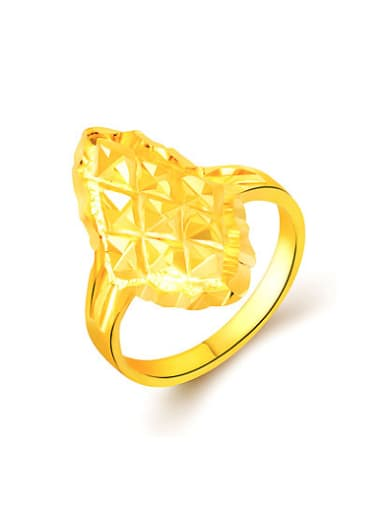 Women Delicate 24K Gold Plated Diamond Shaped Ring
