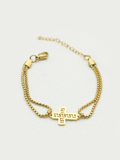 Gold Plated Cross Women Bracelet