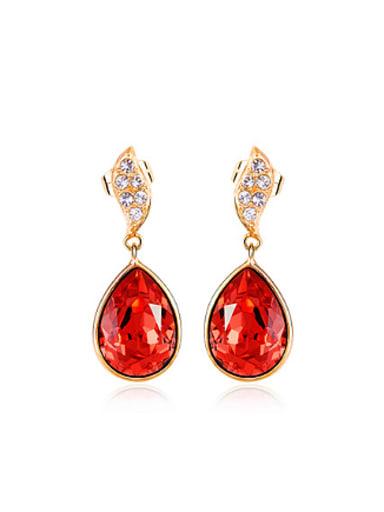 Fashion Water Drop Austria Crystal Earrings