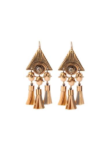 Triangle Tassel Alloy drop earring