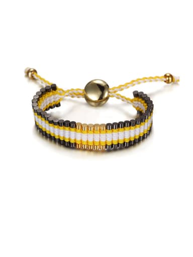 Personality Double-colored Knitting Bracelet
