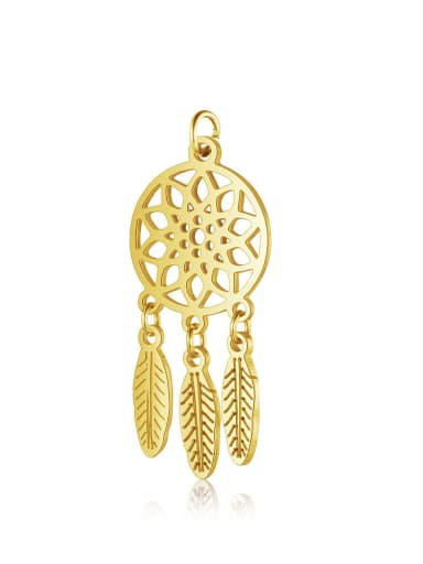 Stainless Steel With Gold Plated Trendy Irregular Dreamcatcher Charms