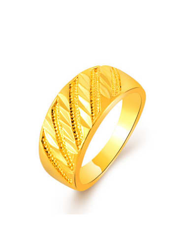 Fashionable 24K Gold Plated Geometric Shaped Copper Ring