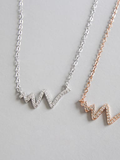 925 Sterling Silver With Cubic Zirconia Personality Necklaces