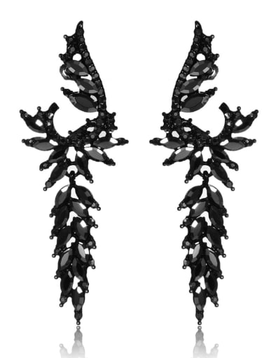 Stainless Steel With Inserted drill  Exaggerated Water Drop Earrings
