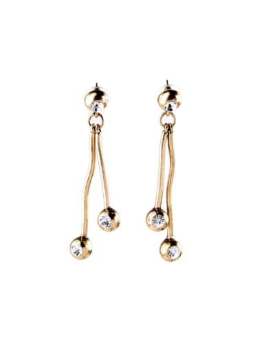 Rhinestones Simple  Stud drop earring