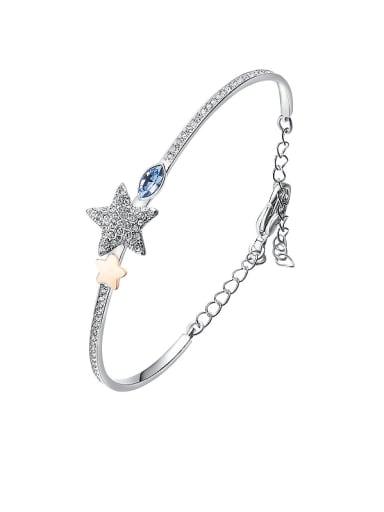 2018 2018 S925 Silver Crystal Bracelet