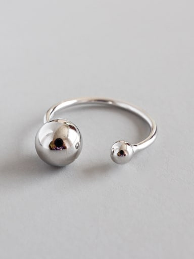 Sterling Silver with simple bead free size rings