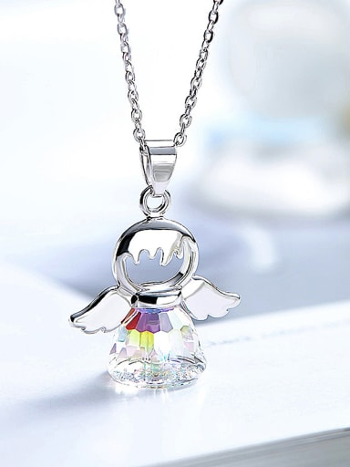 Angel-shaped Crystal Necklace