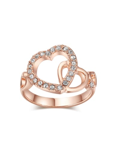 Hollow Double Hearts -shaped Birthday Ring