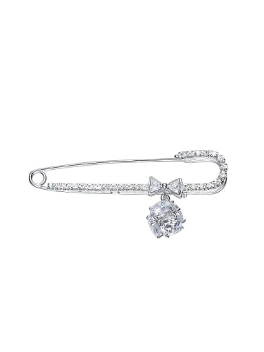Simple Cubic Zircon Women Brooch