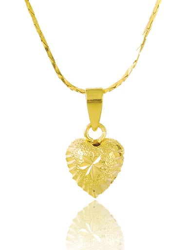 Elegant 24K Gold Plated Heart Shaped Necklace