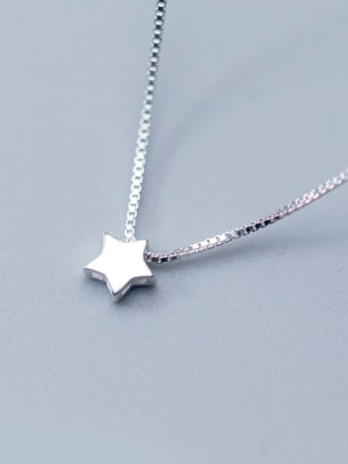 Women All-match Star Shaped S925 Silver Necklace