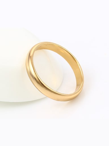 Copper Alloy 18K Gold Plated Vintage style Smooth band ring