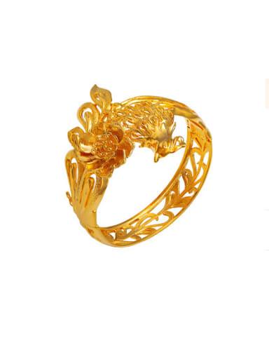Copper Alloy 24K Gold Plated Retro style Phoenix Bangle