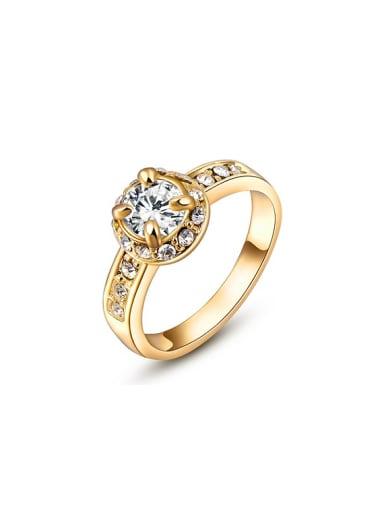 Exquisite 18K Gold Plated AAA Zircon Ring