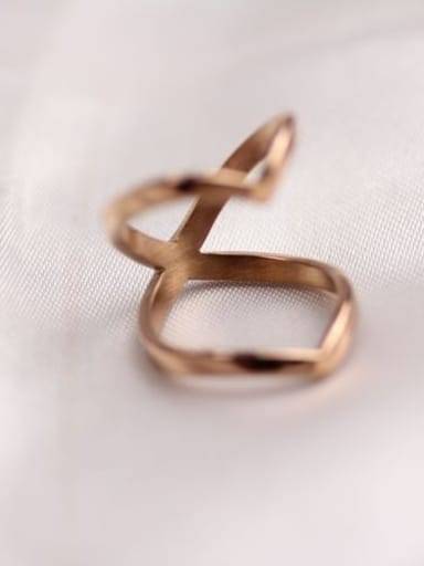 Rose Gold Double Sharp Ring