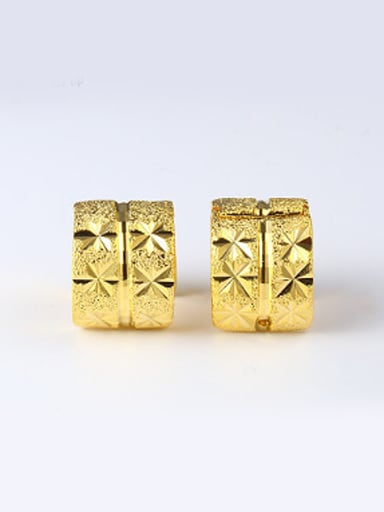 Classical Gold Plated Women Clip Earrings