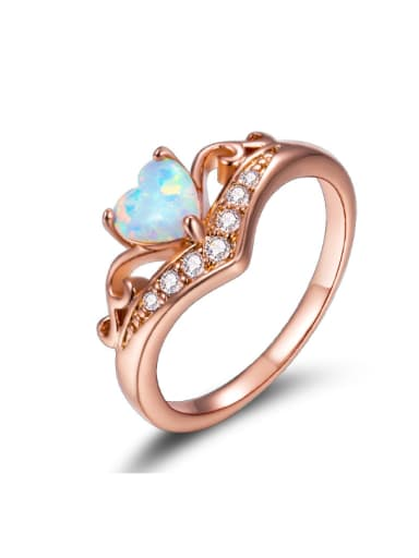 Noble Classical Crown Shaped Alloy Ring