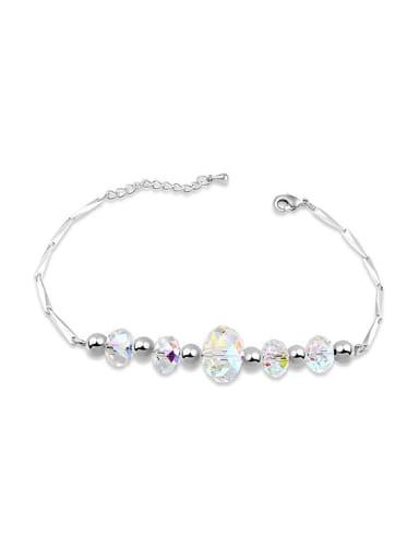 Simple Swarovski Crystal Beads Alloy Bracelet